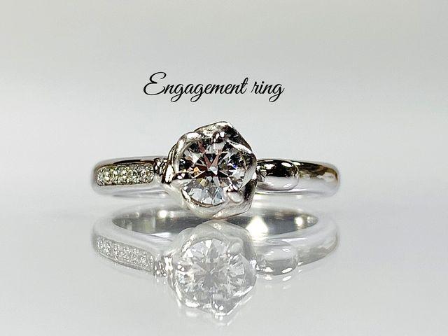 結婚指輪 オーダーメイド 名古屋市 豊田市 緑区 エンゲージ ばら イニシャル