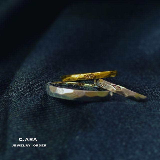 結婚指輪 オリジナル 手作り 槌目 オーダーメイド 名古屋市 豊田市