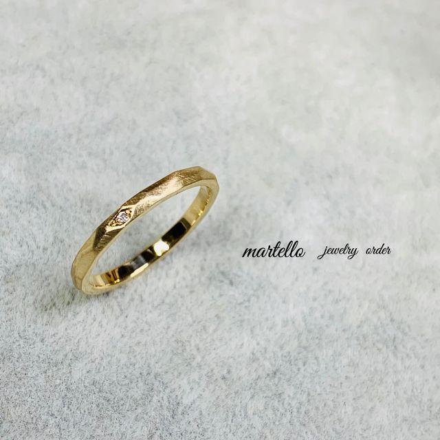 結婚指輪 オリジナル シンプル 槌目 オーダーメイド 名古屋市 豊田市