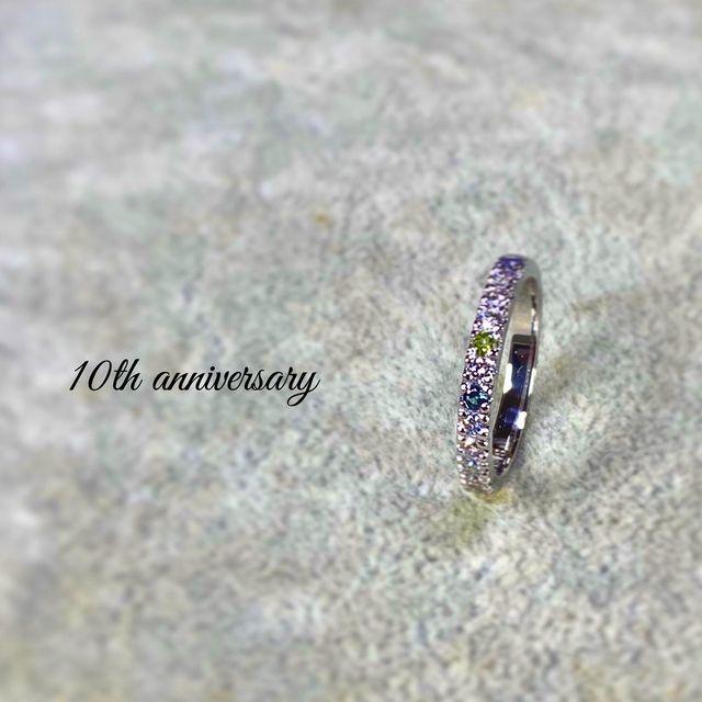 スイートテン リフォーム 結婚記念日 オーダーメイド 名古屋市 豊田市 10周年 エタニティーリング 鍛造 手作り 岡崎市