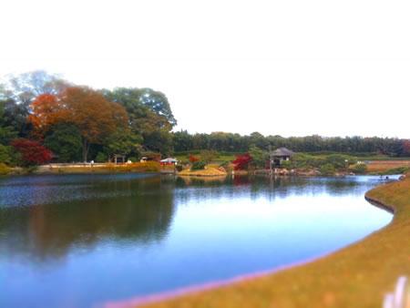 岡山-後楽園をミニチュアライズ