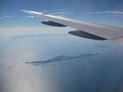 沖縄本島周辺上空