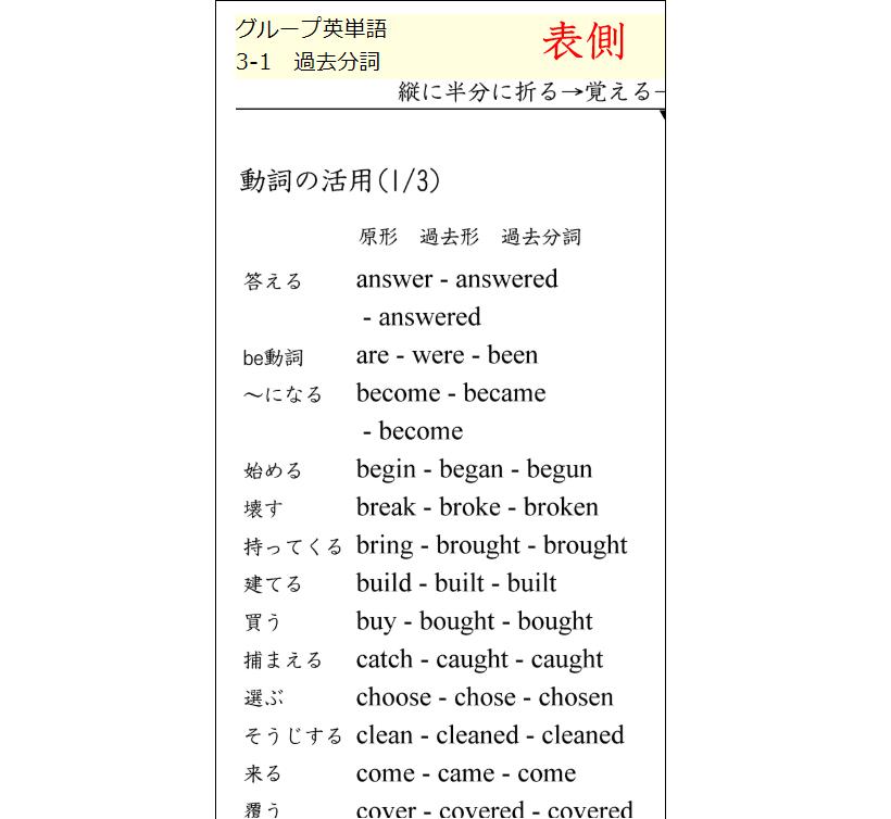 動詞の活用2