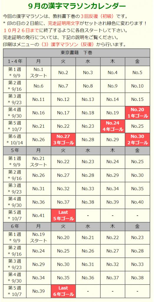 東京書籍版漢字定着マラソン