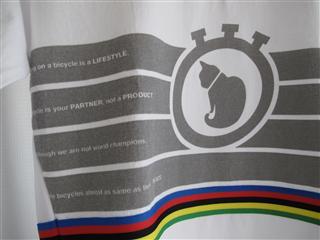 ローテイトストアのロンTシャツ(白)猫柄アルカンシエル。(表ロゴ)090614