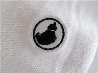 ローテイトストアのロンTシャツ(白)猫柄アルカンシエル。(袖ロゴ)090614