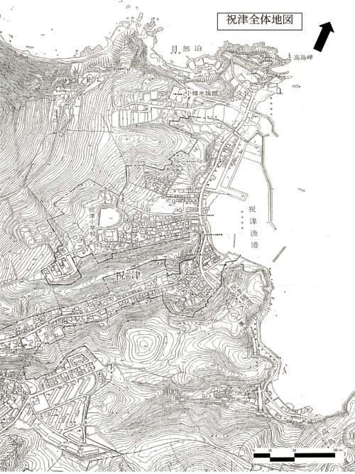 祝津白地図