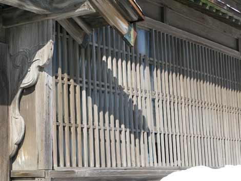 雪の茨木家中出張番屋・格子