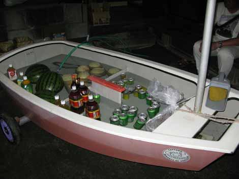 ヨットを使ったくー来店ボックス