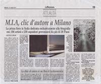ミラノの新聞記事