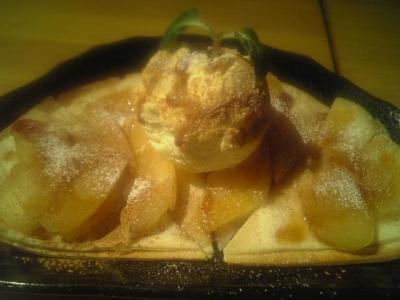シナモンアップルピザ2