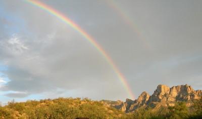 プッシュリッジ山の虹