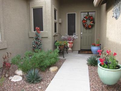 玄関のクリスマスオーナメント