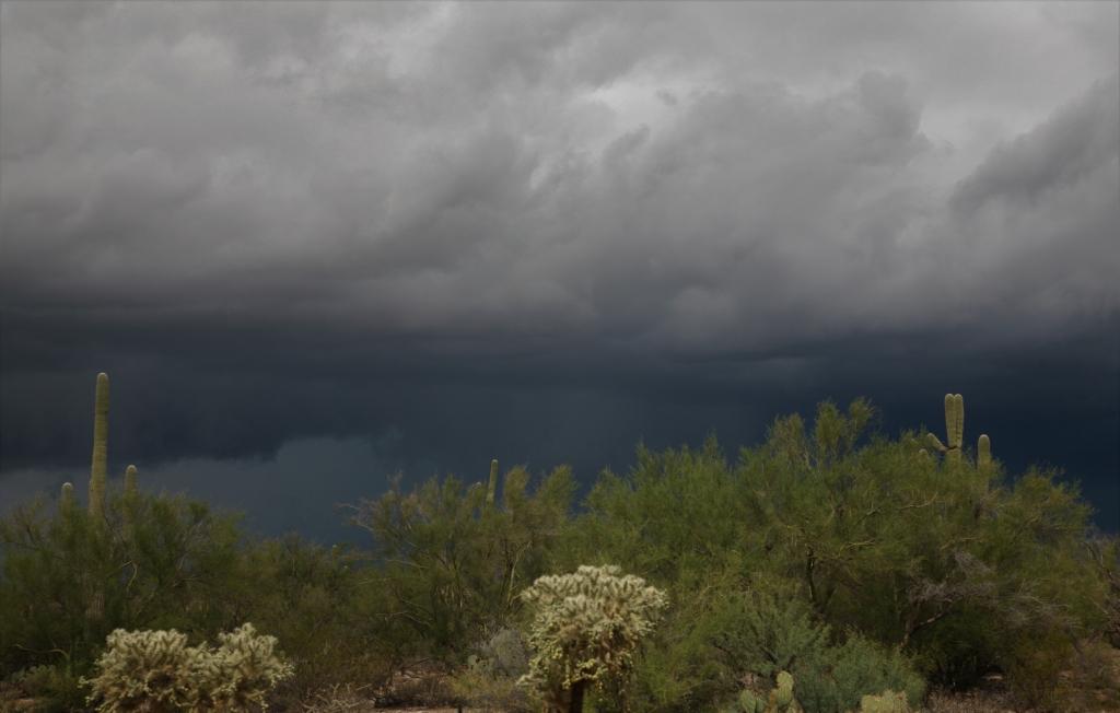 空一面の雷雲