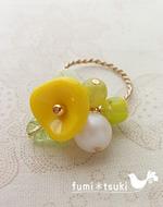 手作りアクセサリーキット:お花のリング
