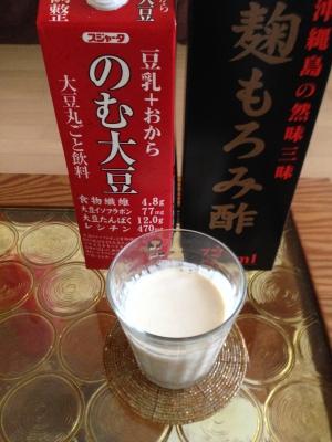 黒糖麹もろみ酢ののむ大豆割り