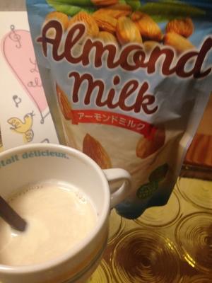アーモンドミルク+飲む大豆