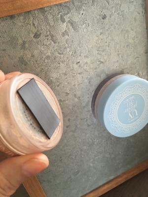 磁石でくっつくスタンドミラー
