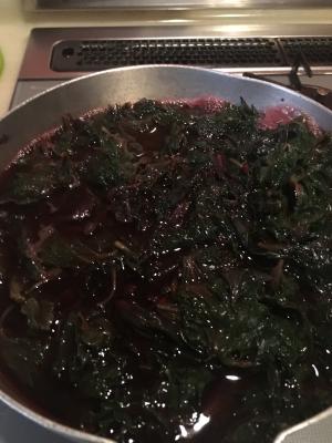 赤紫蘇ジュース(濃縮)作り