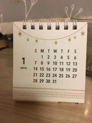 2018 テントカレンダー