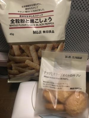 無印良品【ナッツとオリーブオイルのサブレ】【全粒粉と黒こしょう】