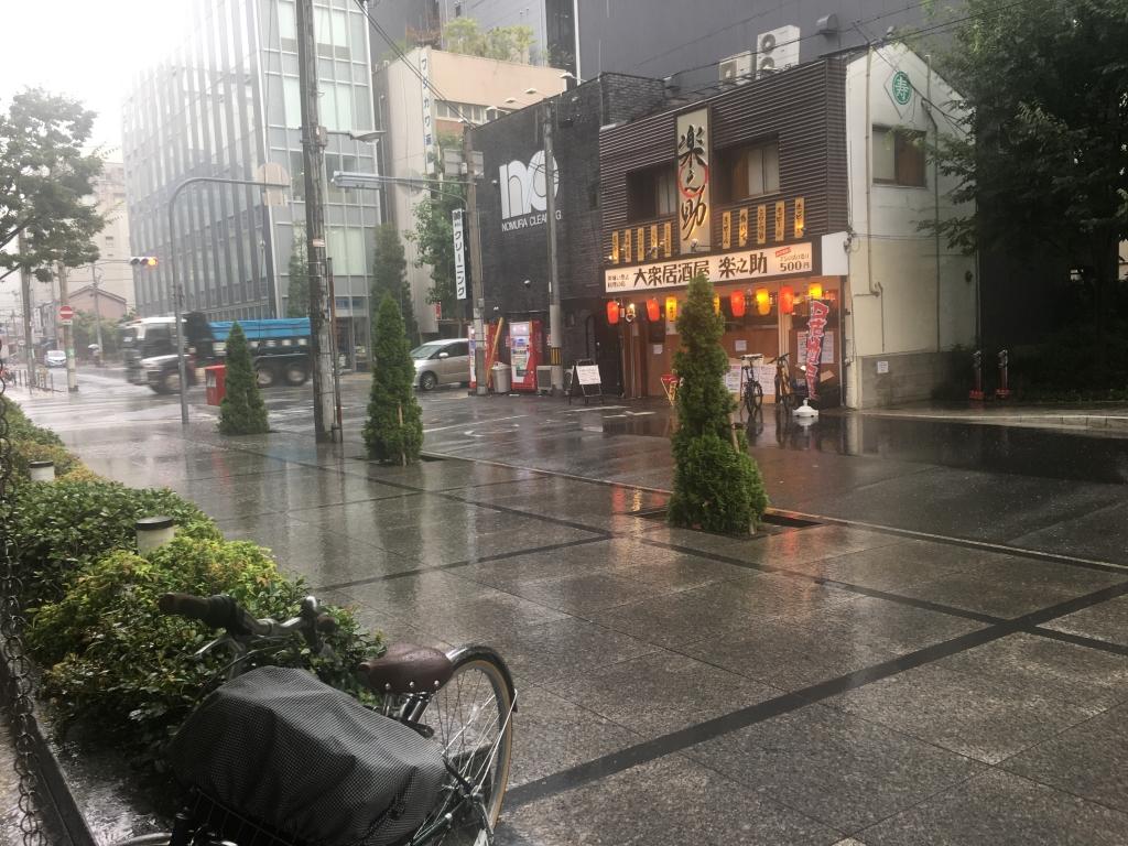 2018/8/21 ゲリラ豪雨@大阪市中央区