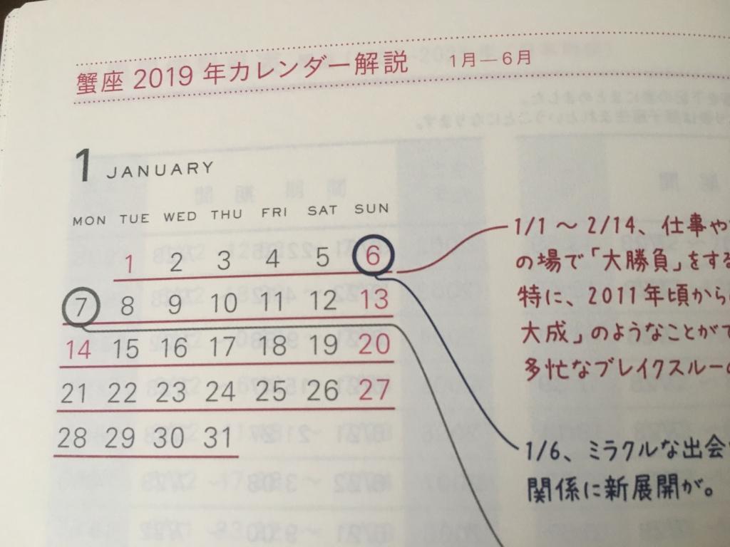 星ダイアリー 2019 蟹座