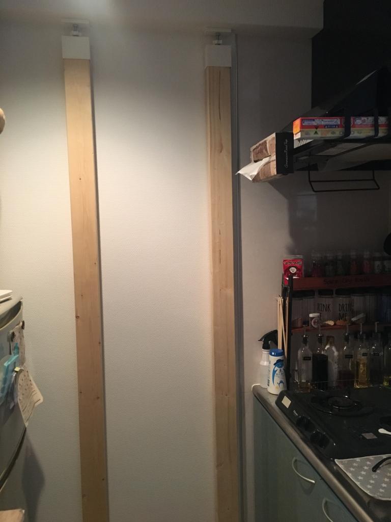 キッチンの壁面収納をDIY