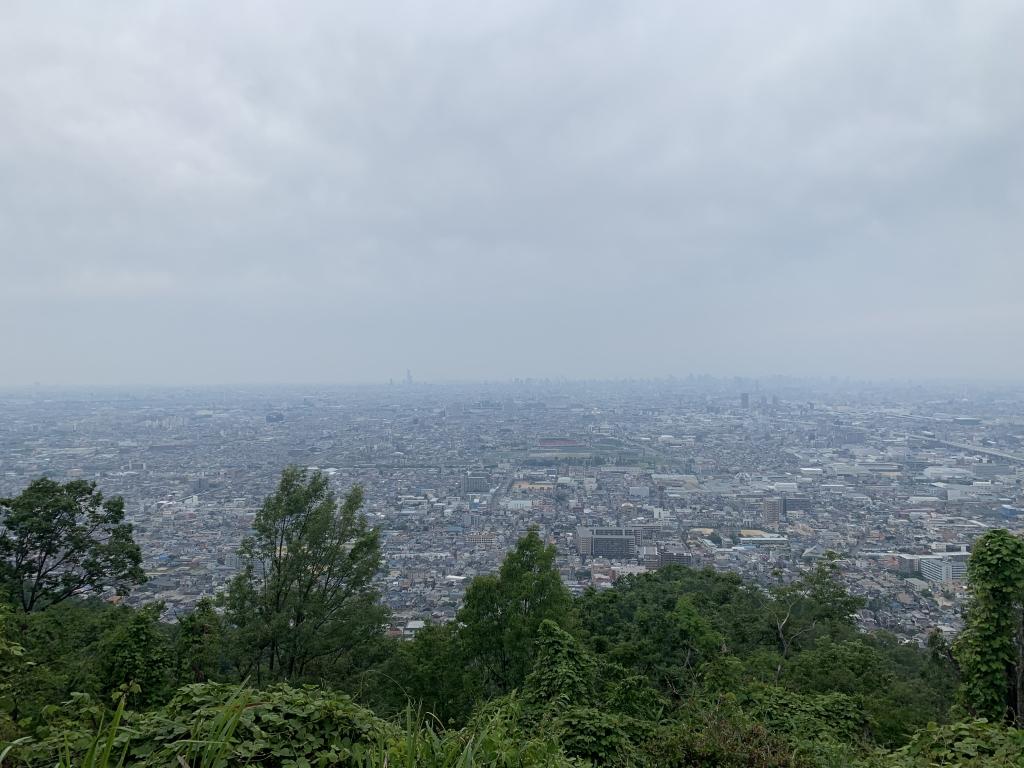枚岡神社 展望台より大阪平野を望む。