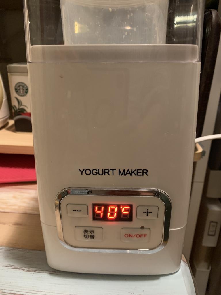 ヨーグルトメーカーで豆乳ヨーグルト作り。