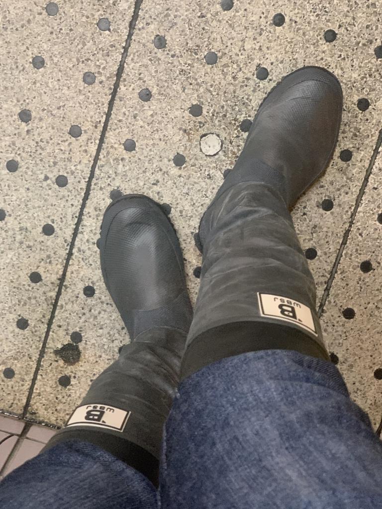 日本野鳥の会 長靴/グレイSS