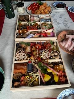 2020年家族新年会の食卓