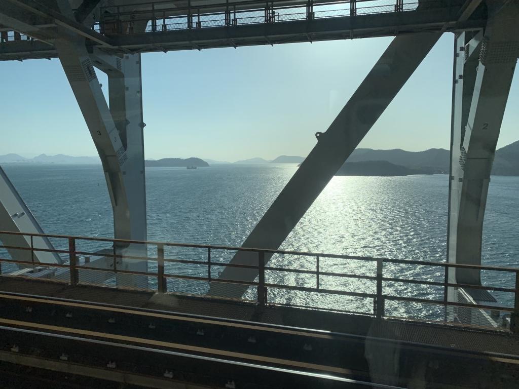 瀬戸大橋より。