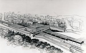 東海大学前駅完成予想図