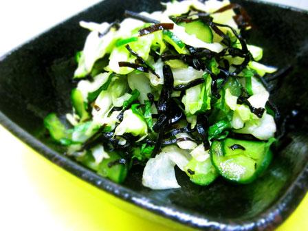 キャベツと昆布の副菜