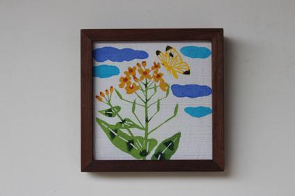 新作の額 菜の花