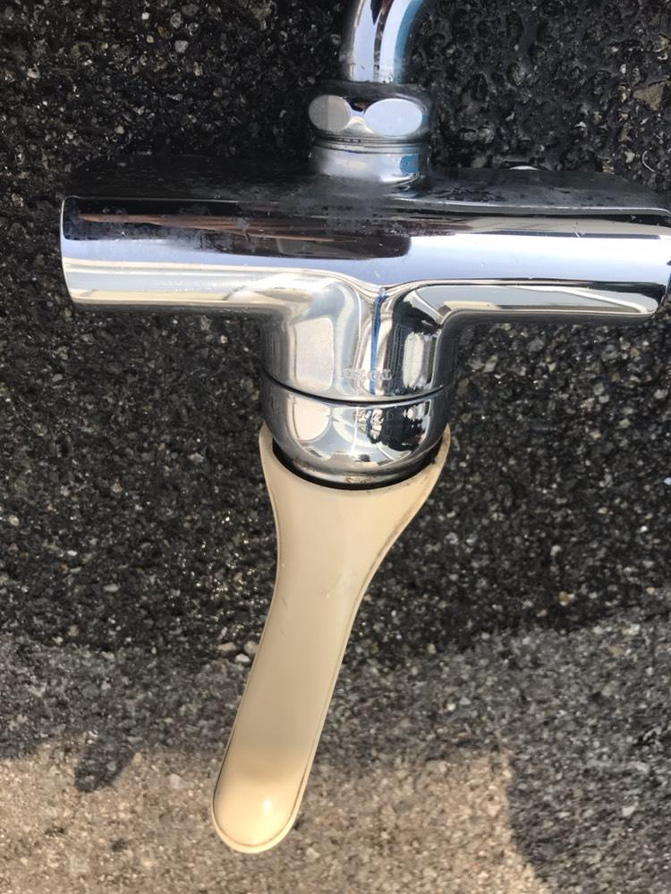 水栓金具掃除前