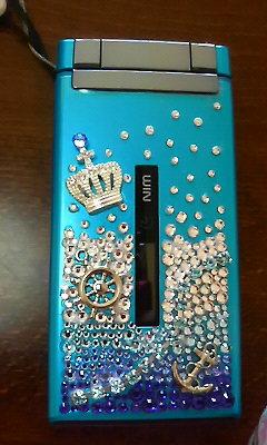 携帯ブルー
