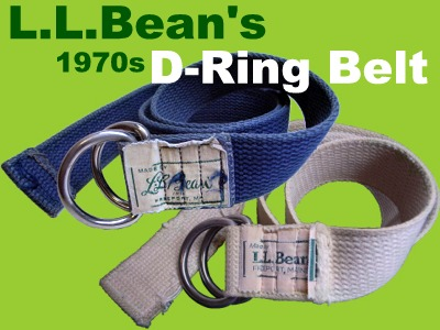 l.l.bean d-ring belt