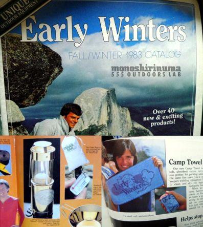 Early Winters Candle towel 1982 (2) モノシリ沼 555 outodoor lab 1970-1980年代 アウトドア 温故知新