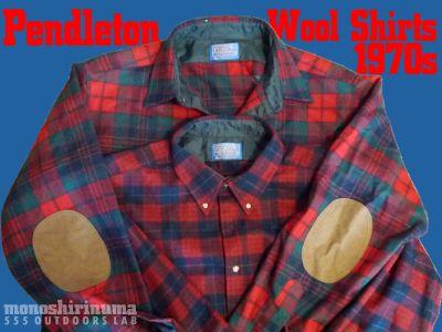 モノシリ沼 555nat.com 1970s-80sアウトドア温故知新 1970s Pendleton Wool Shirts ペンドルトン100%ウール (1)