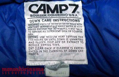 モノシリ沼 555nat.com 1970s-80s温故知新 避けては通れないキャンプ7 CAMP7 Down Vest ? (4)