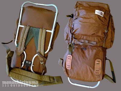 モノシリ沼 555nat.com 1970s-80sアウトドア温故知新 フレームパックの洗濯。The North Face BACK MAGIC(1)