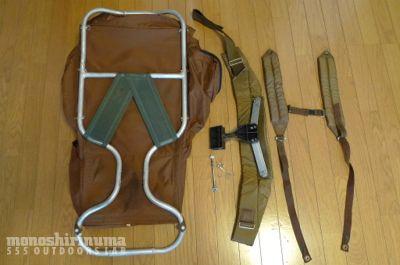 モノシリ沼 555nat.com 1970s-80sアウトドア温故知新 フレームパックの洗濯。The North Face BACK MAGIC(2)