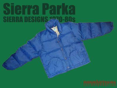 モノシリ沼 555nat.com 1970-80sアウトドア温故知新 1970-80s Sierra Designs SIERRA PARKA シェラデザイン「シェラパーカ」 (1)