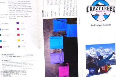 モノシリ沼 555nat.com monoshirinuma 1970-1980s アウトドア温故知新 The Crazy Creek Chair 1989 (2)