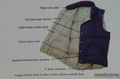 モノシリ沼 555nat.com monoshirinuma 1970-1980s アウトドア温故知新 Made in USA シェラデザイン ダウンベスト 1970s Sierra designs 60/40 Down Vest(6)