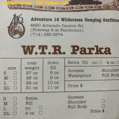 """Adventure-16 モノシリ沼 555nat.com 温故知新 A-16 """"WTA PARKA"""" カタログ(12)"""