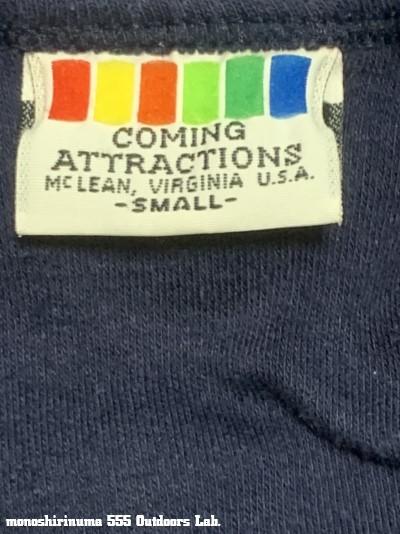 ノースフェイス モノシリ沼 555nat.com 温故知新 1984年購入のThe North Face T-shirtはCOMING ATTRACTIONS(01)