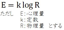 E = k・logR
